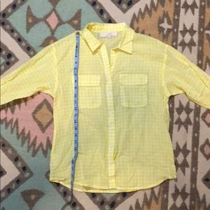 Loft yellow and white gingham or check.